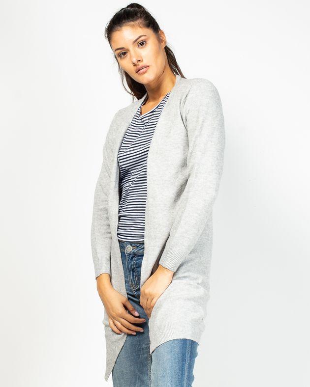 Cardigan-lung-tricotat