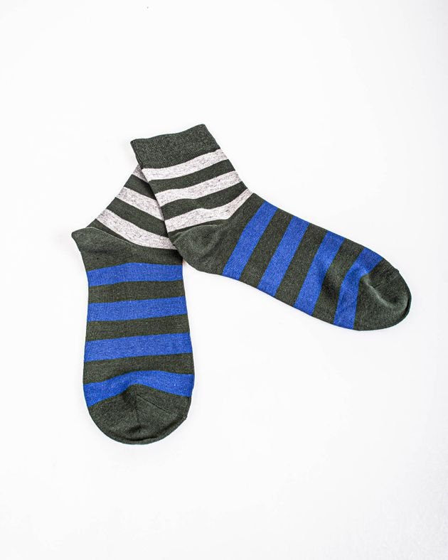 Sosete-verzi-cu-dungi-albastre-si-gri-39-42