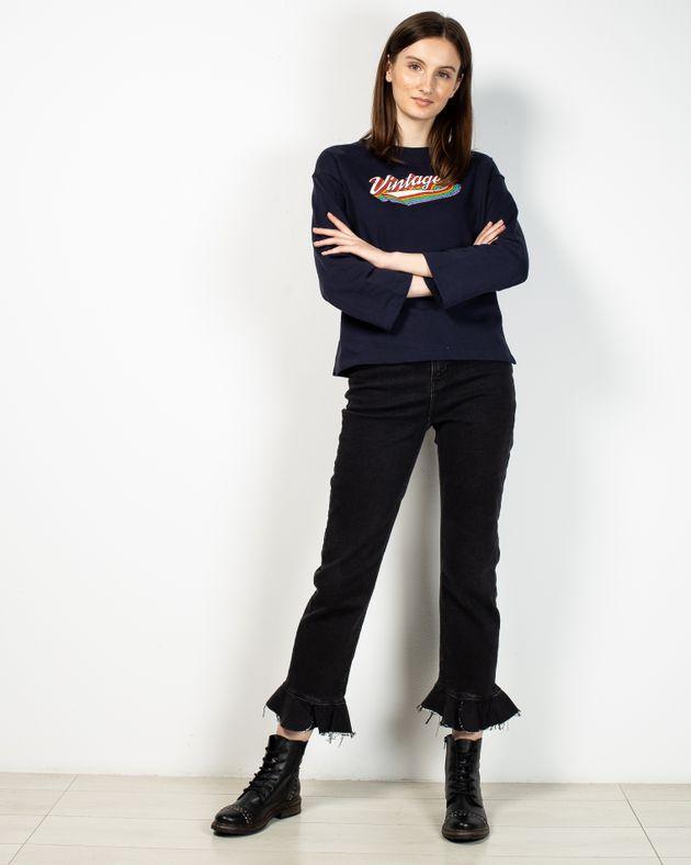 Jeans-evazati-cu-talie-inalta