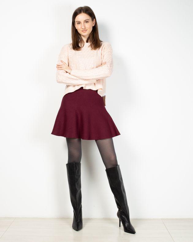 Fusta-scurta-tricotata