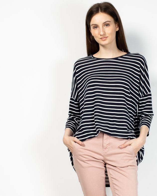 Bluza-in-dungi-cu-maneca-trei-sferturi