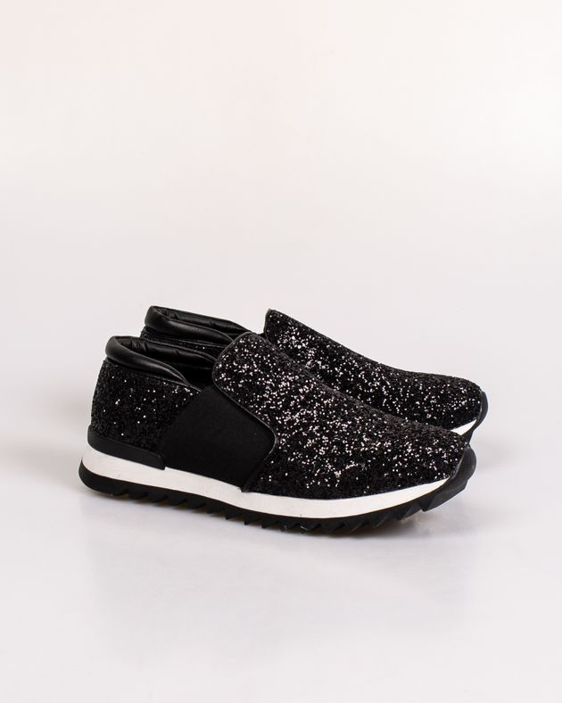 Pantofi-sport-Adams-cu-sclipici-si-banda-elastica