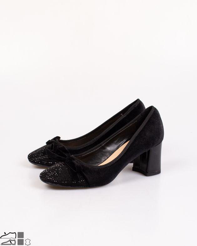 Pantofi-Adams-din-catifea-cu-toc-si-funda