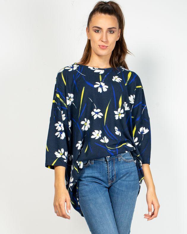 Bluza-tricotata-fin-cu-imprimeu-floral