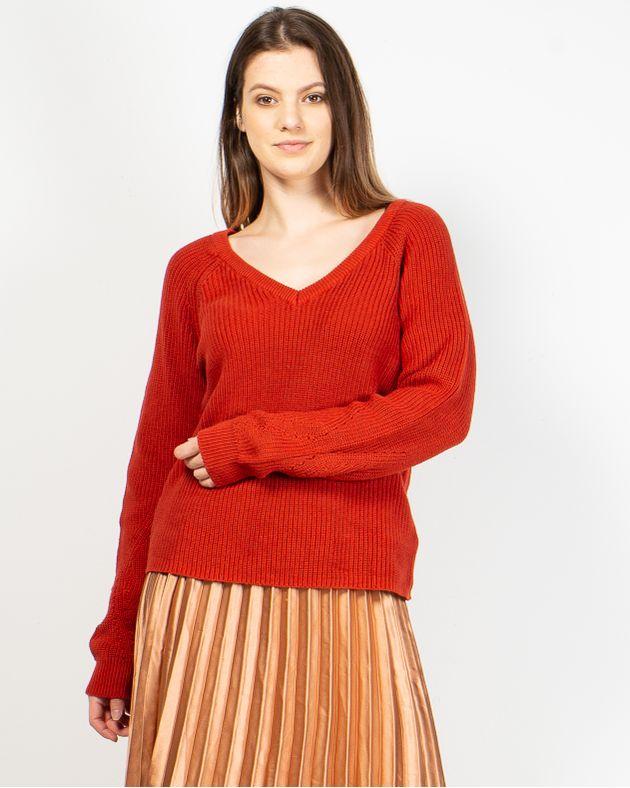 Pulover-tricotat-din-bumbac-cu-anchior