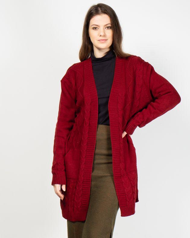Cardigan-tricotat-cu-buzunare-si-maneca-lunga