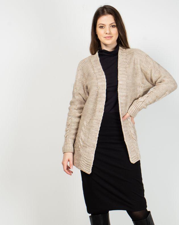 Cardigan-tricotat-cu-maneca-lunga