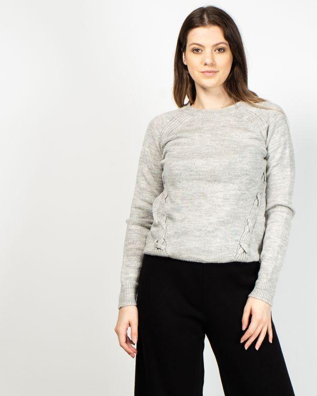 Pulover-casual-tricotat-cu-maneca-lunga