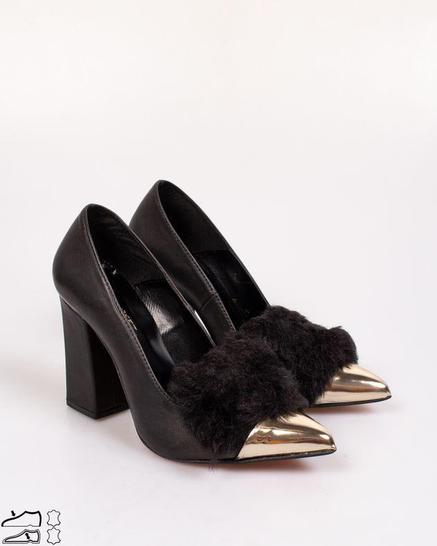 Pantofi-din-piele-naturala-cu-blana-decorativa-si-toc-bloc