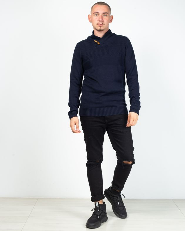 Pulover-tricotat-simplu-cu-maneca-lunga