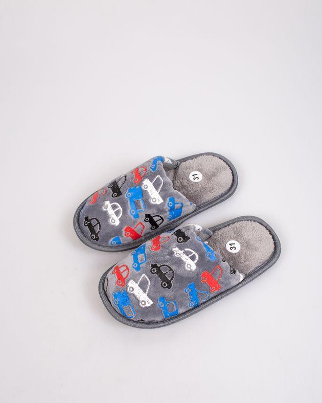 Papuci-de-casa-caldurosi-cu-masinute-pentru-copii