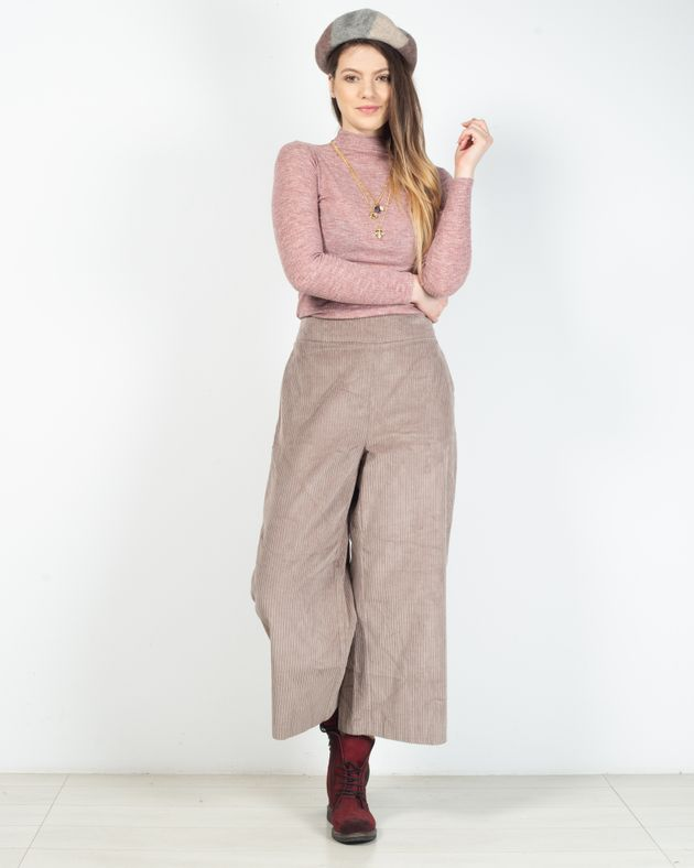 Pantaloni-raiati-din-bumbac-cu-fermoar-lateral