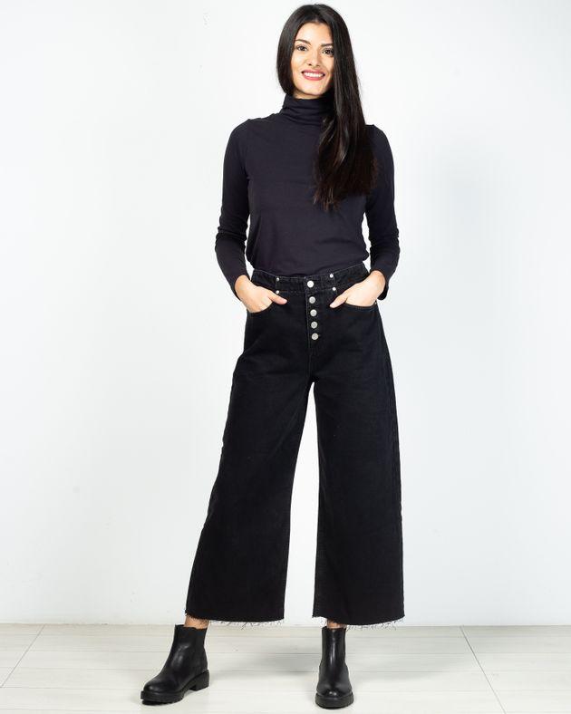 Jeans-evazati-din-bumbac-cu-buzunare