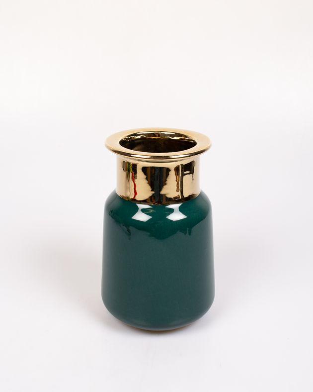 Vaza-round-verde-cu-auriu