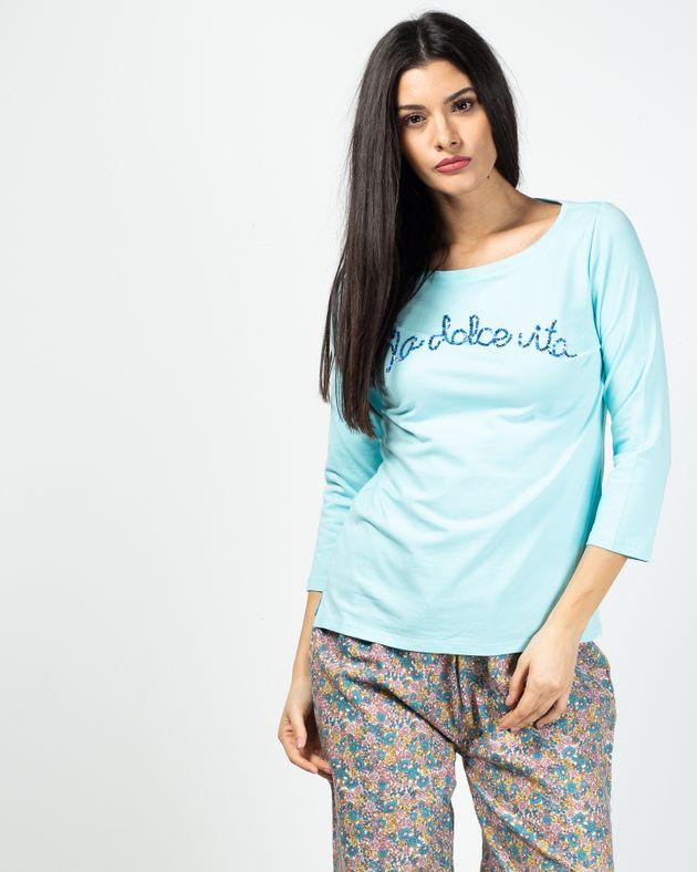Bluza-de-pijama-cu-maneca-trei-sferturi
