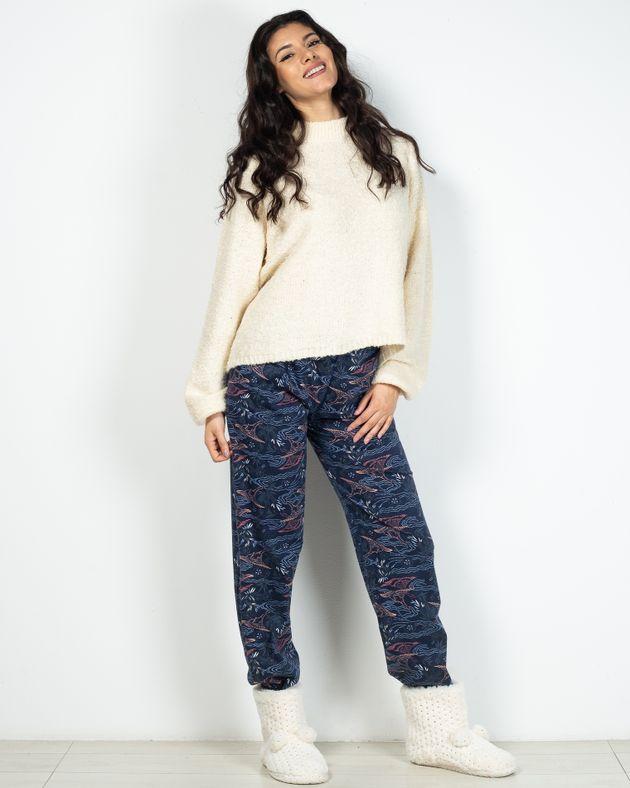 Pantaloni-de-pijama-din-bumbac-cu-talie-elastica