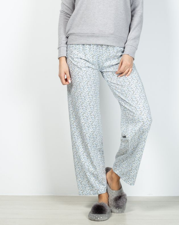 Pantaloni-de-pijama-din-bumbac-cu-talie-elastica-si-imprimeu-floral-2028786010