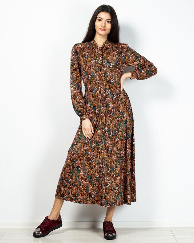 Rochie-dama-cu-maneca-lunga-si-talie-elastica-2100908008