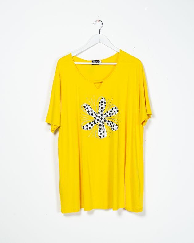 Bluza-dama-cu-maneca-scurta-si-imprimeu-2100909015