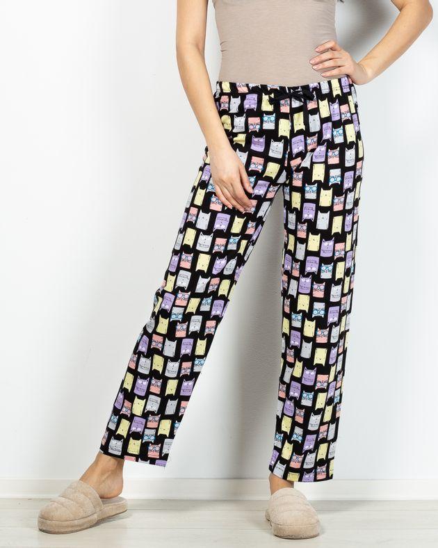 Pantaloni-de-pijama-din-bumbac-cu-elastic-in-talie-si-imprimeu-pisici-2101002038